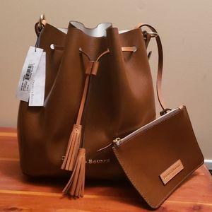 Genuine Dooney & Bourke Brown Leather Purse